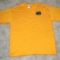 <p><strong>Yellow Crew Neck Tee with Logo<br /></strong></p>